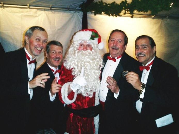 Chairmen of the Chord with Santa (Jeff Pomeranz)